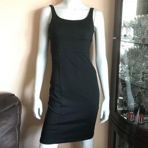 Zara Basic Black Bodycon Dress Open Back